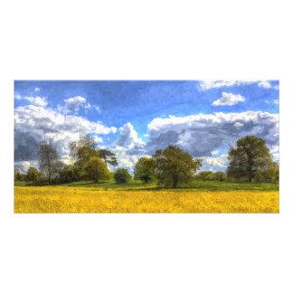 The Peaceful Farm Art Customised Photo Card