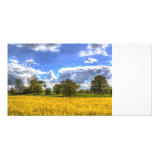 The Peaceful Farm Art Customized Photo Card