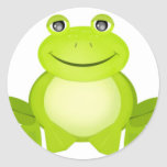 The Peaceful Frog Round Sticker