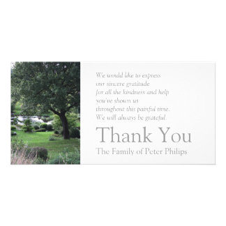 The peaceful Garden 6 - Sympathy Thank You -2- Picture Card