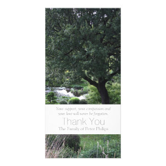 The peaceful Garden 6 - Sympathy Thank You -3- Personalized Photo Card
