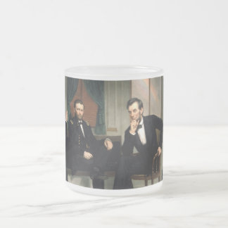The Peacemakers with Abraham Lincoln Frosted Glass Coffee Mug