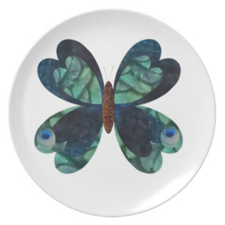 The Peacock Butterfly Dinner Plates