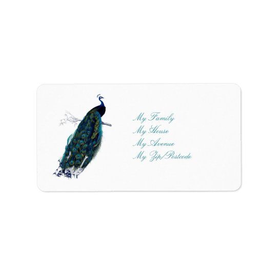 The Peacock Collection Address Label
