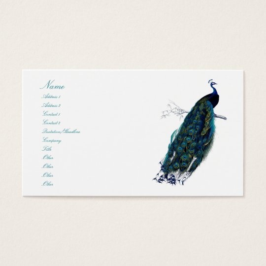 The Peacock Collection Business Card