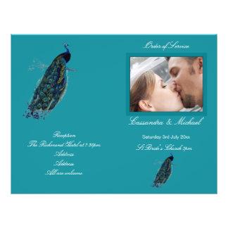 The Peacock Collection Wedding Programme 21.5 Cm X 28 Cm Flyer