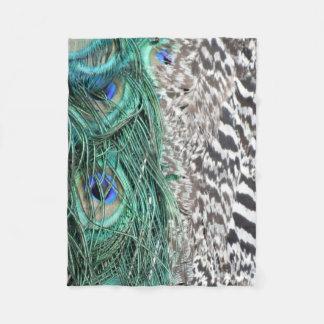The Peacock Delight Fleece Blanket