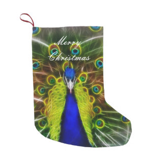 The Peacock Dreamcatcher Small Christmas Stocking
