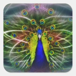 The Peacock Dreamcatcher Square Sticker
