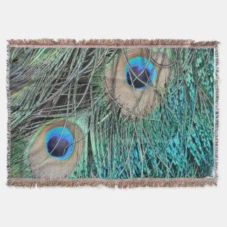 The Peacock Eye Throw Blanket
