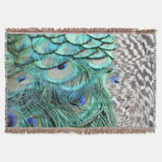 The Peacock Neck Throw Blanket