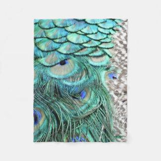 The Peacock Runner Fleece Blanket