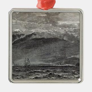 The Peak of Teneriffe, Sante Cruz Christmas Ornament