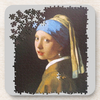 The Pearl Earring puzzle Coaster