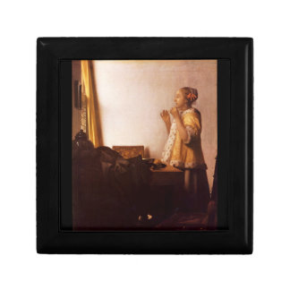 The Pearl Necklace by Johannes Vermeer Keepsake Boxes