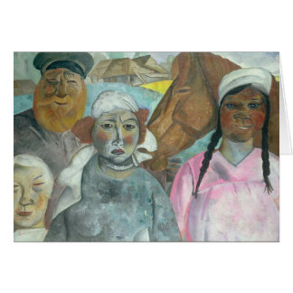The Peasant Family, 1923 Greeting Card