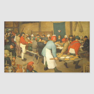 The Peasant Wedding - 1568 Rectangle Stickers