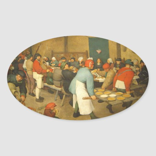 The Peasant Wedding - 1568 Sticker