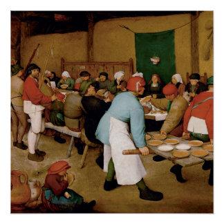 The Peasant Wedding by Pieter Bruegel the Elder Poster