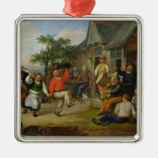 The Peasants' Dance, 1678 Christmas Ornament