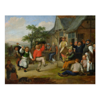 The Peasants' Dance, 1678 Postcard