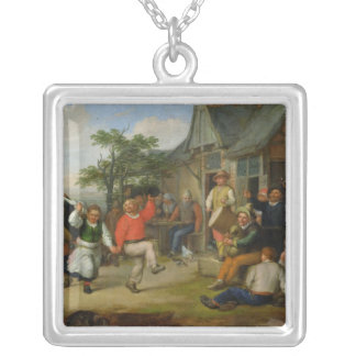 The Peasants' Dance, 1678 Silver Plated Necklace