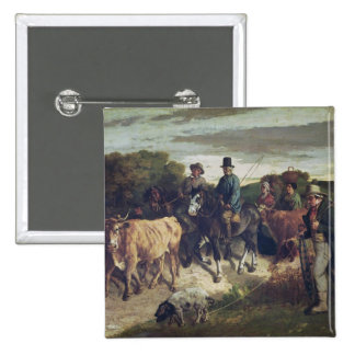 The Peasants of Flagey Returning from the Fair 15 Cm Square Badge