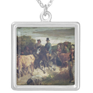 The Peasants of Flagey Returning from the Fair Silver Plated Necklace