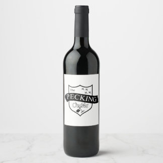 The Pecking Order custom wine bottle labels
