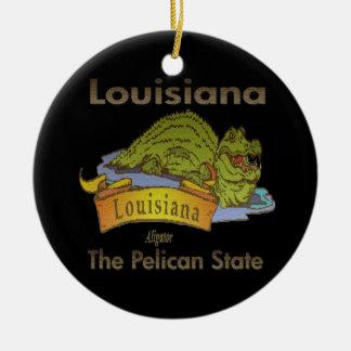 The Pelican State Louisiana Alligator Ornament