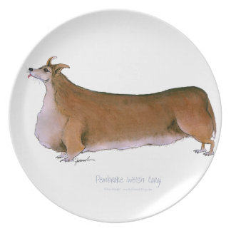 the pembroke welsh corgi, tony fernandes plate