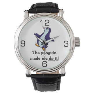 The Penguin Made Me Do it! Wrist Watches