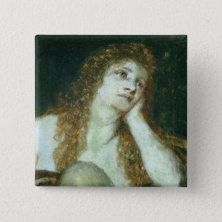 The Penitent Mary Magdalene, 1873 15 Cm Square Badge