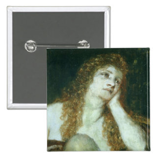 The Penitent Mary Magdalene, 1873 15 Cm Square Badge