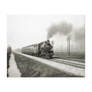 The Pennsylvania Flyer, 1906. Vintage Photo Stretched Canvas Prints