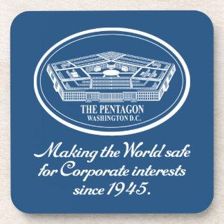 The Pentagon Drink Coasters