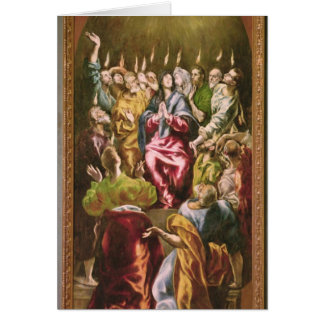 The Pentecost c 1604-14 Greeting Card