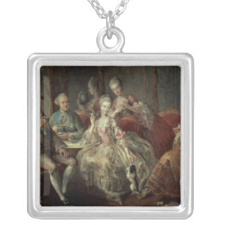 The Penthievre Family or The Cup of Chocolate Silver Plated Necklace