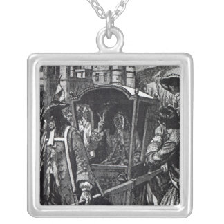The People of Edinburgh Escorting the Duke Silver Plated Necklace