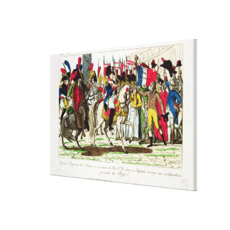 The People of Paris Acclaiming Napoleon Canvas Print