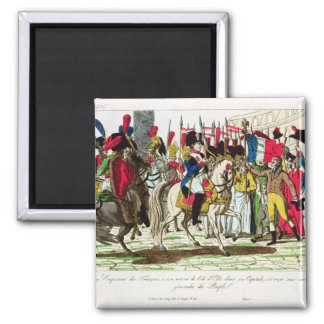 The People of Paris Acclaiming Napoleon Magnet