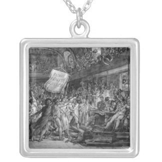 The People of Paris storm the Tuileries Silver Plated Necklace