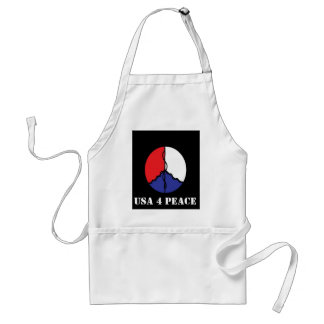 THE PEOPLE OF THE US WANT PEACE STANDARD APRON