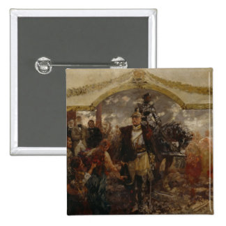 The People Render Homage to Bismarck, 1911 15 Cm Square Badge