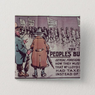 The People's Budget', 1909 15 Cm Square Badge