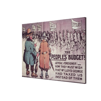 The People's Budget', 1909 Canvas Print