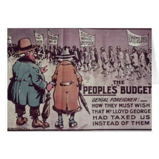 The People's Budget', 1909 Card