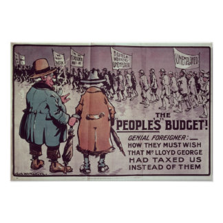 The People's Budget', 1909 Poster