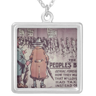 The People's Budget', 1909 Silver Plated Necklace