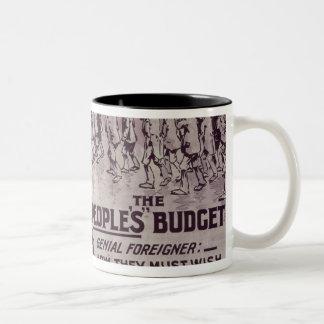 The People's Budget', 1909 Two-Tone Coffee Mug